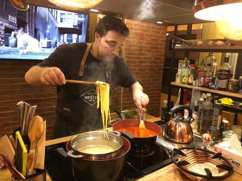 Spaghete cu ton și fructe de mare (2)