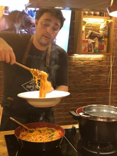Spaghete cu ton și fructe de mare (7)