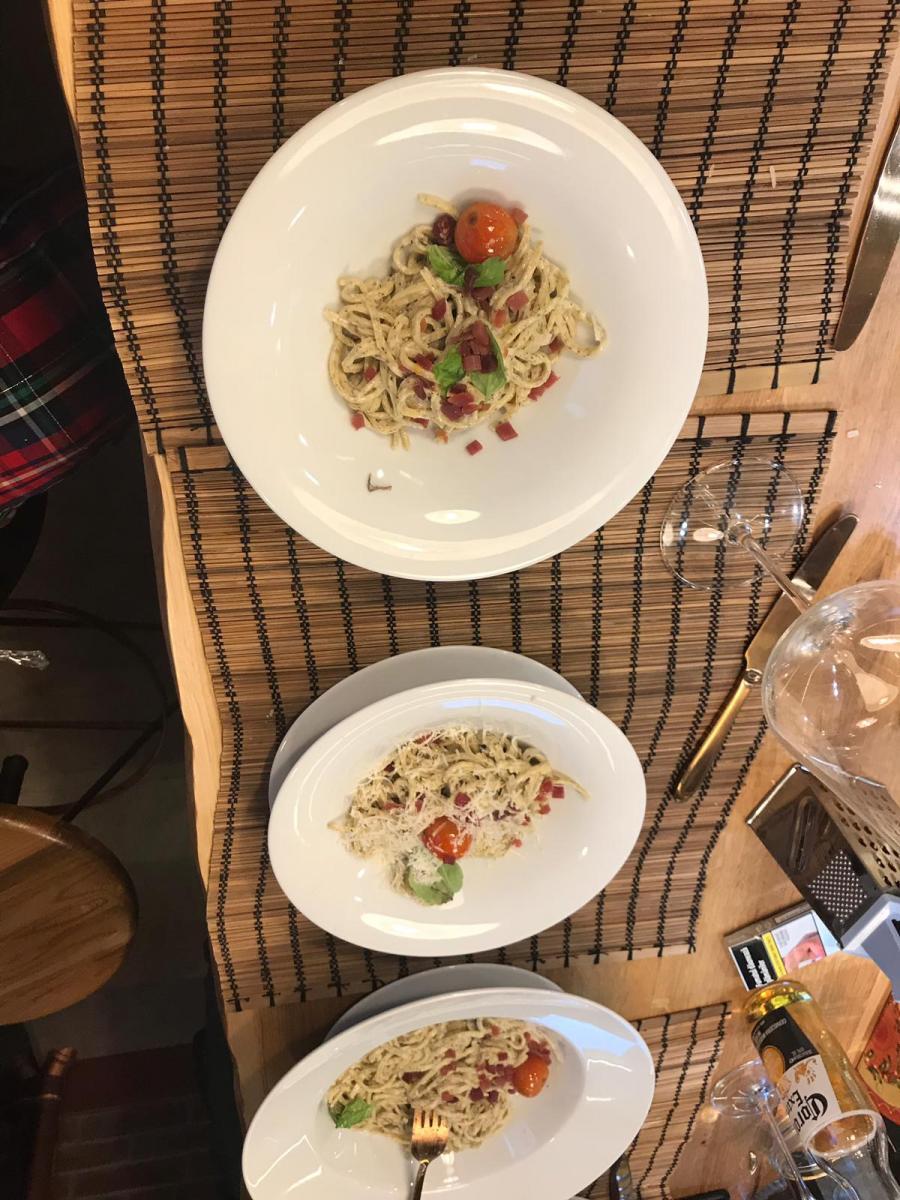 Tagliolini cu trufe negre in sos de ciuperci champignon si tartar de jamon serano.2 (2)