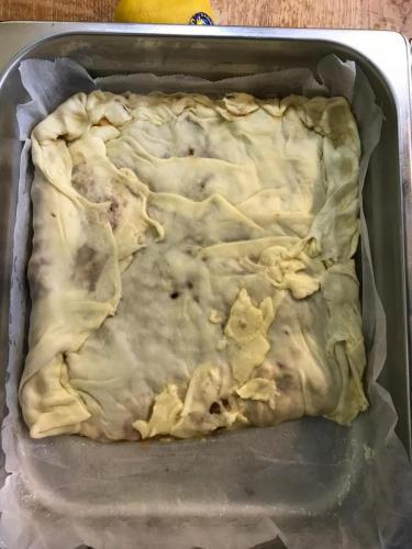 Tagliolini cu trufe negre in sos de ciuperci champignon si tartar de jamon serano.2
